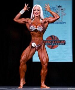 beautiful female bodybuilder with muscular body and muscle booty post from tumblr