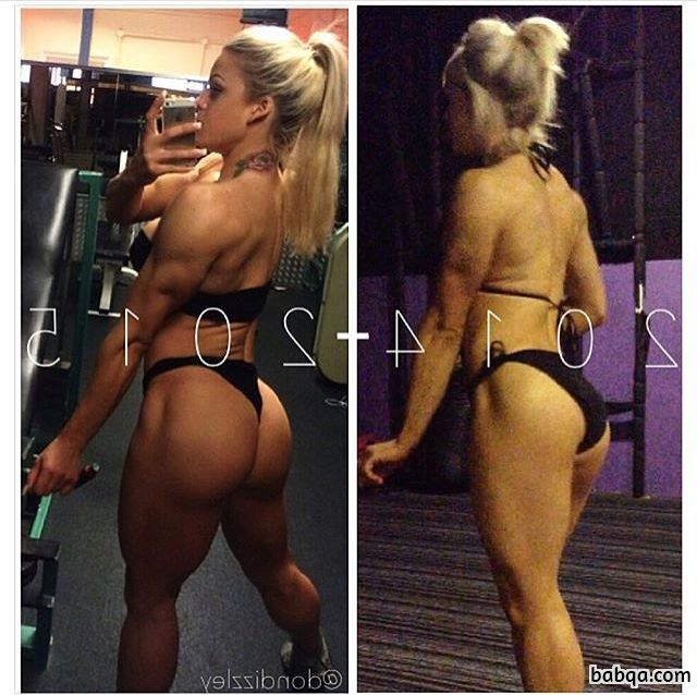 spicy lady with muscular body and toned booty pic from tumblr