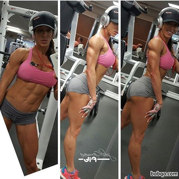 beautiful babe with fitness body and toned biceps photo from g+