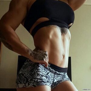 awesome woman with muscle body and toned biceps picture from g+