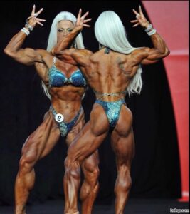 hottest woman with muscular body and toned legs picture from g+