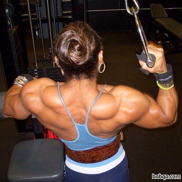perfect female bodybuilder with muscle body and muscle ass image from facebook