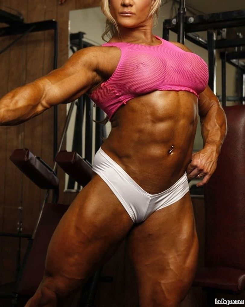 sexy female bodybuilder with strong body and toned ass image from reddit