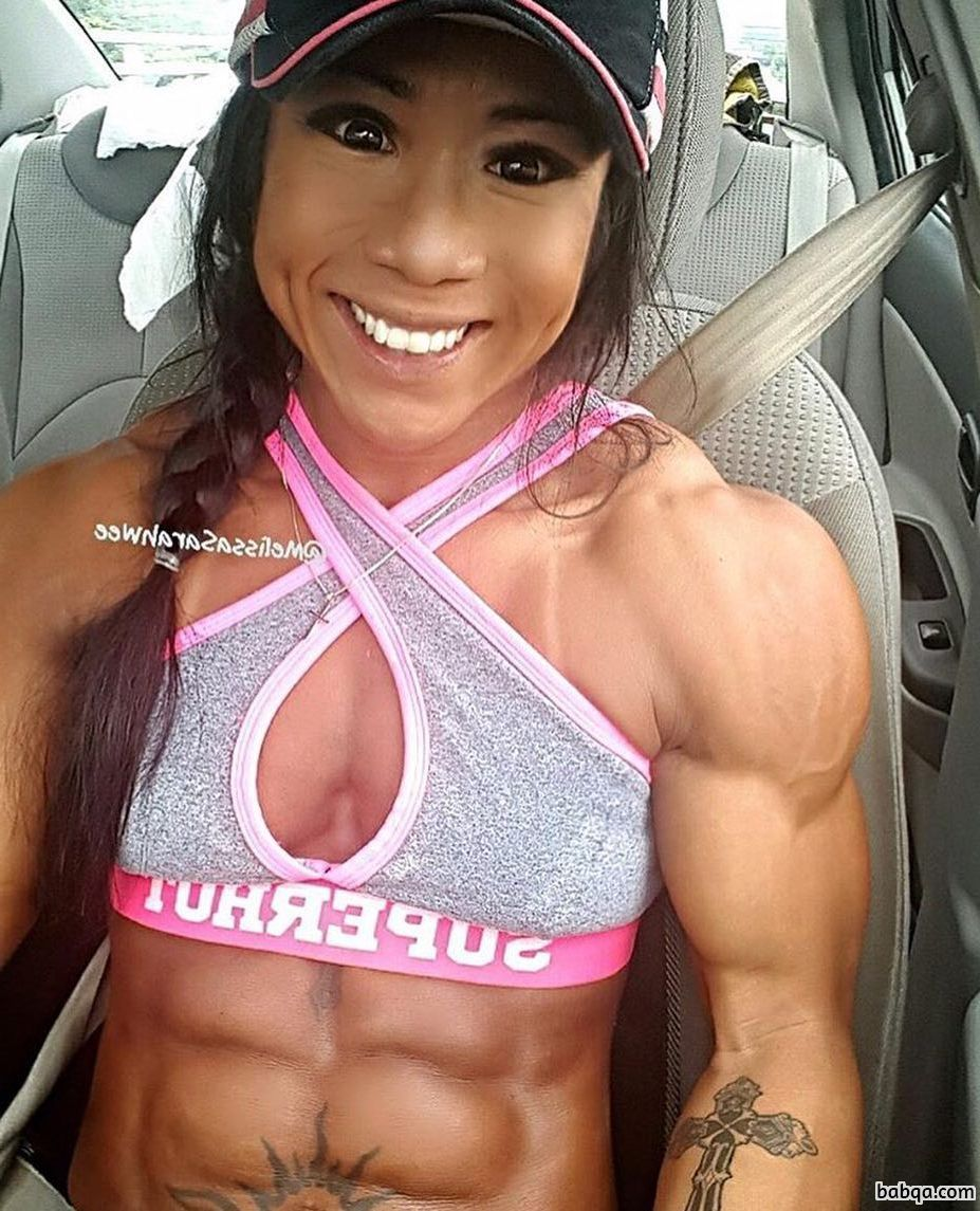 awesome girl with muscle body and toned bottom image from g+