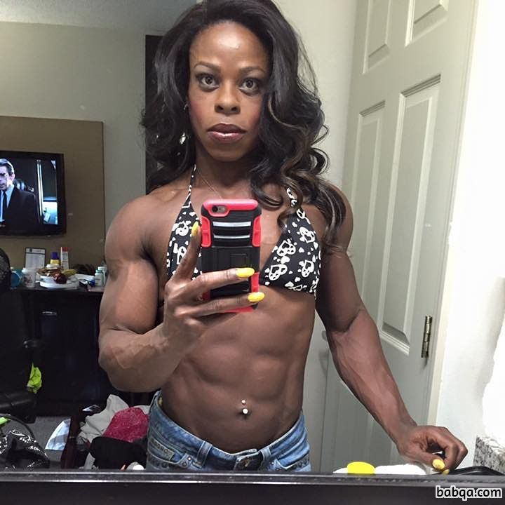 hottest lady with strong body and muscle biceps photo from reddit