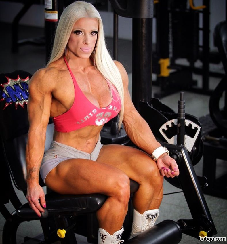 spicy female bodybuilder with fitness body and toned bottom image from linkedin