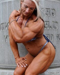 perfect lady with muscular body and toned arms pic from g+
