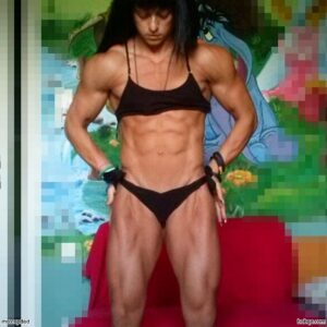 hot lady with muscle body and toned legs pic from tumblr