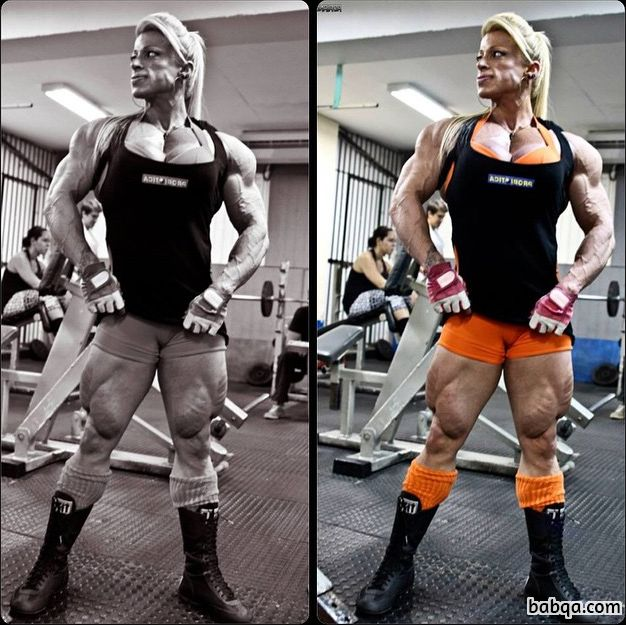 spicy girl with strong body and muscle biceps post from linkedin