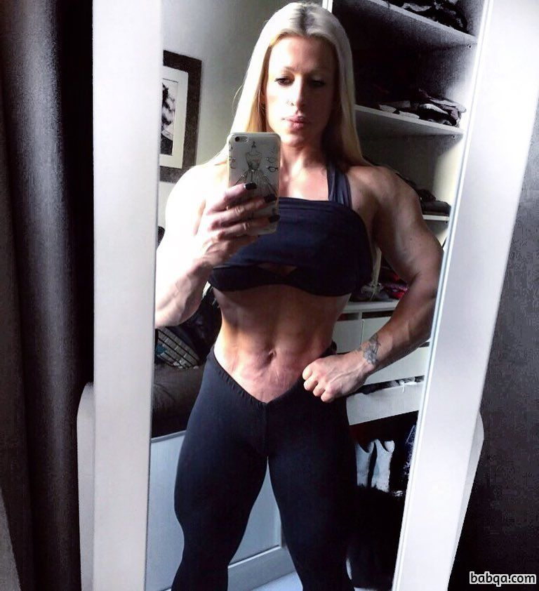 spicy female bodybuilder with strong body and muscle biceps photo from facebook