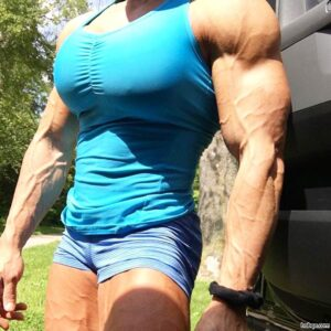 cute lady with muscle body and muscle legs repost from facebook