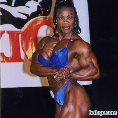 awesome woman with muscle body and muscle biceps image from linkedin