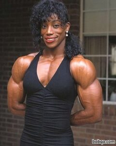perfect lady with strong body and muscle biceps picture from tumblr