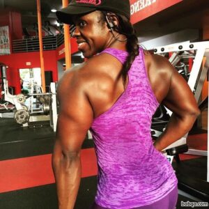 perfect female bodybuilder with muscular body and muscle biceps repost from g+