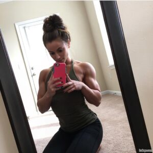 hot chick with muscle body and muscle arms pic from tumblr