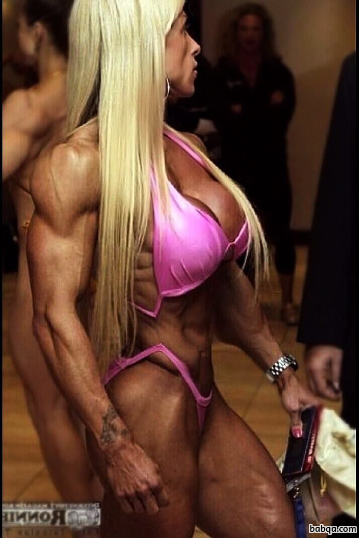 cute female bodybuilder with muscular body and muscle biceps pic from tumblr
