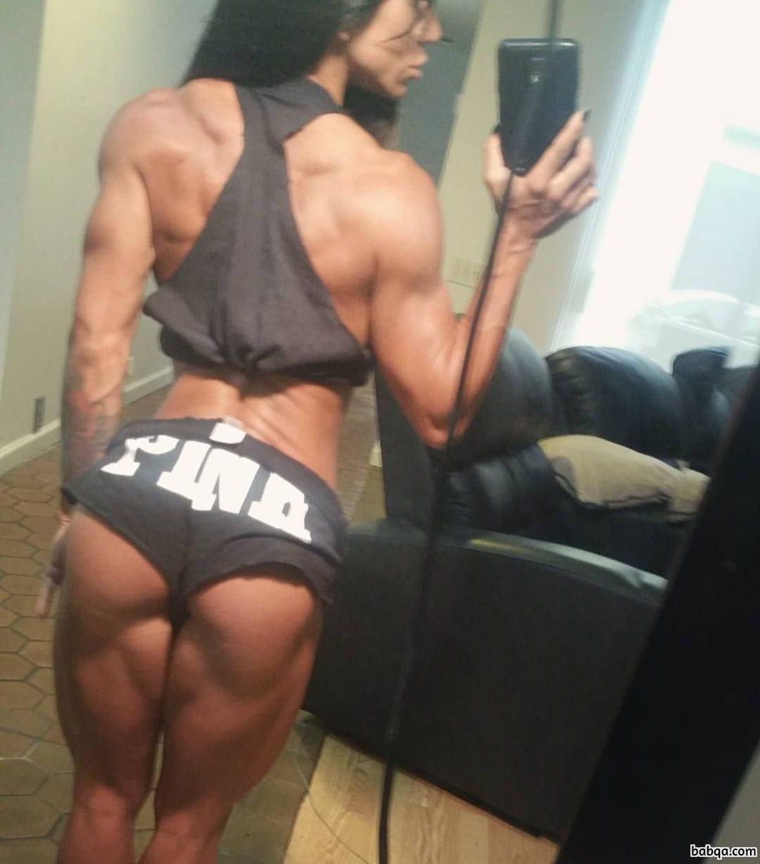 hottest lady with muscle body and muscle bottom repost from tumblr