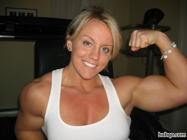 hot female with muscular body and toned arms picture from reddit