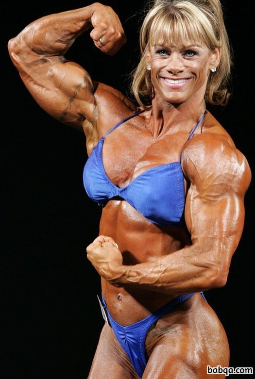 perfect chick with fitness body and muscle arms post from reddit