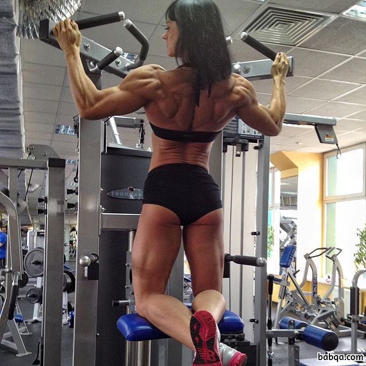perfect lady with muscular body and toned booty pic from flickr