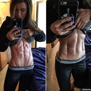 awesome girl with strong body and toned bottom picture from g+