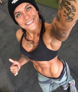 awesome female bodybuilder with muscular body and toned legs repost from facebook