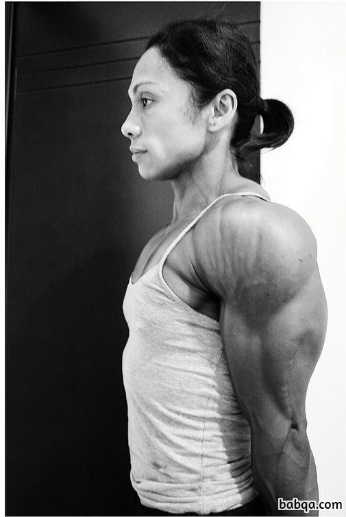 beautiful female with muscular body and toned biceps image from flickr