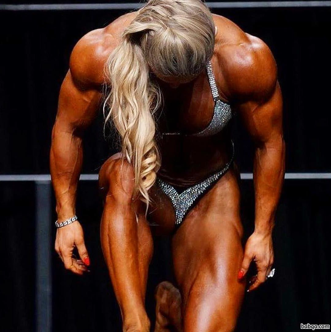 perfect lady with muscular body and muscle arms repost from insta