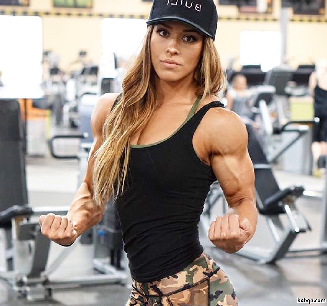 beautiful female with muscle body and muscle legs post from facebook
