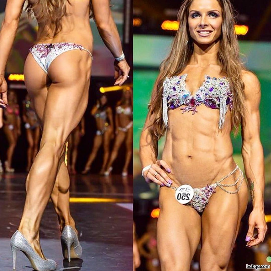 hot chick with fitness body and muscle biceps photo from tumblr