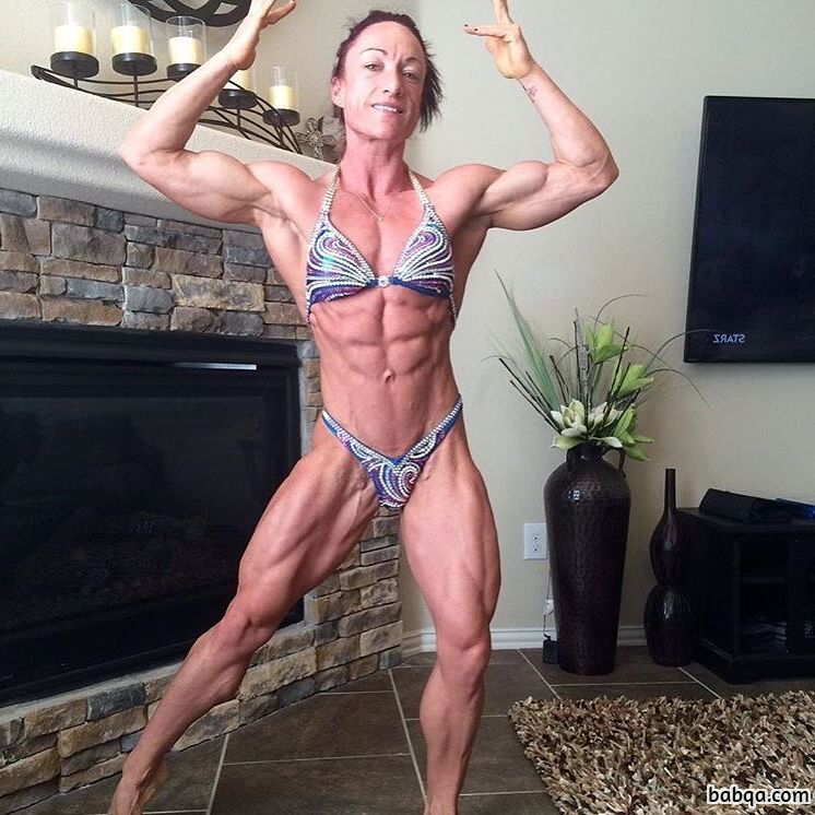 hottest lady with strong body and muscle booty picture from facebook