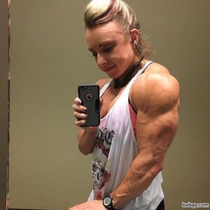 beautiful female bodybuilder with strong body and toned booty picture from instagram