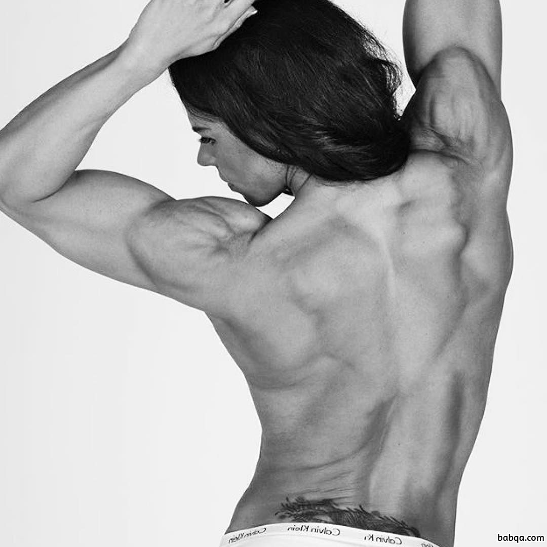 cute female with muscular body and muscle bottom repost from instagram