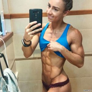 awesome lady with muscular body and muscle arms photo from linkedin