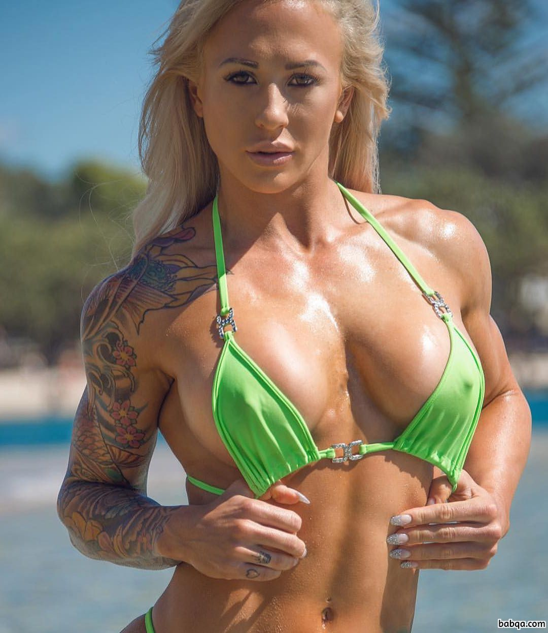 awesome babe with fitness body and toned biceps post from flickr