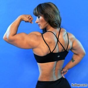 sexy female bodybuilder with muscular body and toned booty post from reddit