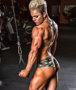 perfect female bodybuilder with muscular body and muscle biceps picture from facebook