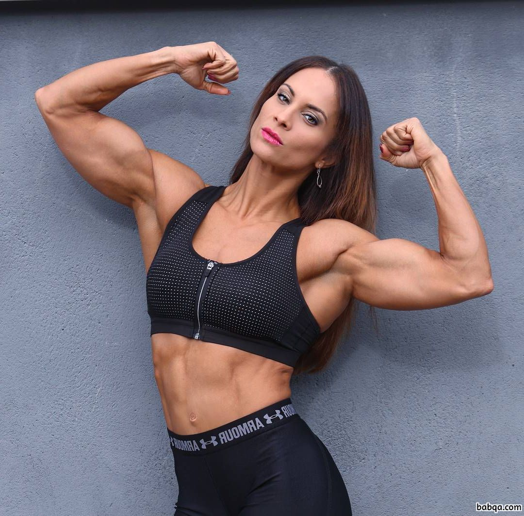 spicy female with muscular body and muscle legs image from linkedin