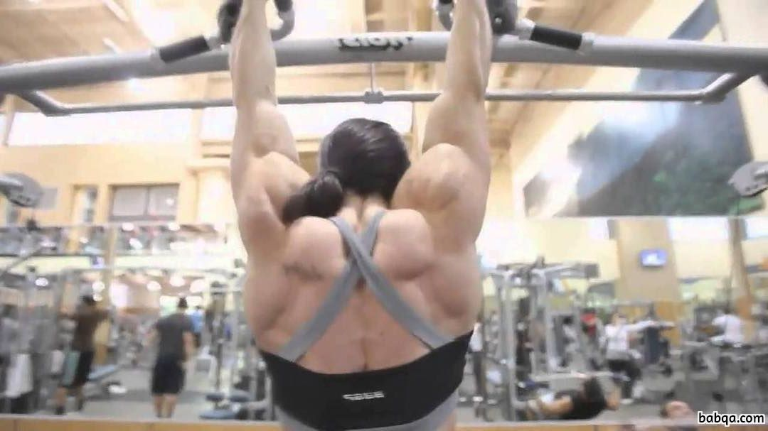 hottest lady with fitness body and muscle biceps image from reddit