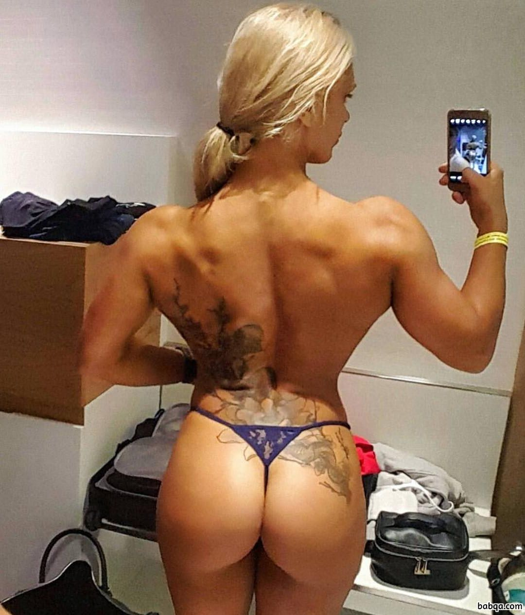 awesome female bodybuilder with strong body and muscle booty image from tumblr