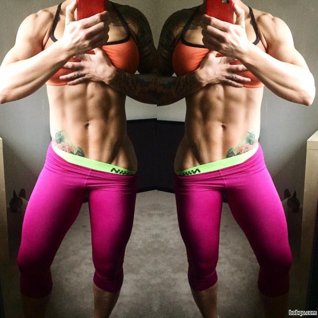 awesome babe with muscular body and toned arms repost from g+