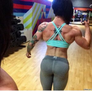 hottest girl with muscle body and muscle booty post from insta