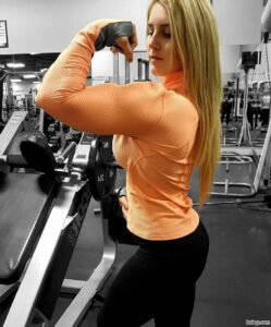 hot babe with muscle body and toned booty photo from tumblr