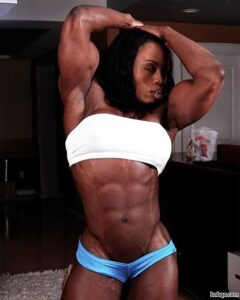 beautiful lady with muscular body and toned bottom post from linkedin
