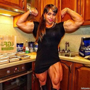 spicy girl with fitness body and toned arms picture from facebook