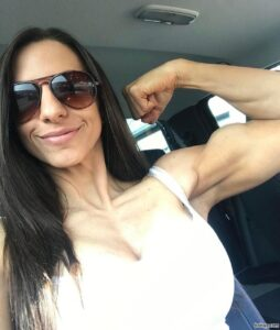 hottest lady with fitness body and toned arms picture from facebook