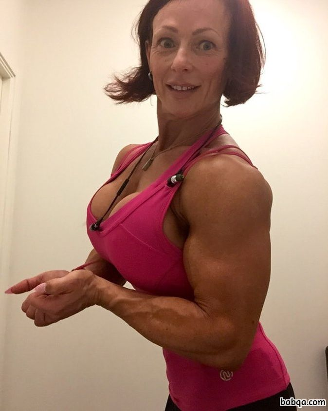 awesome woman with fitness body and muscle legs photo from reddit