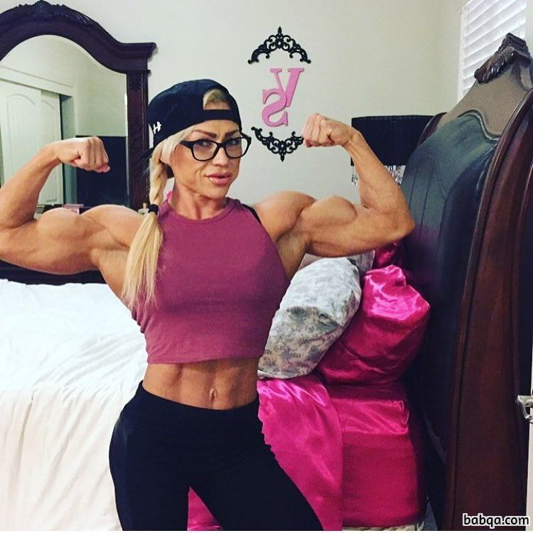 perfect girl with muscle body and muscle biceps photo from linkedin