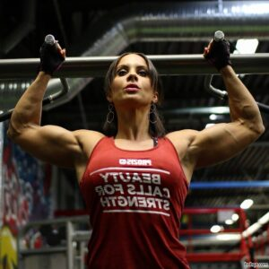sexy female with muscle body and toned biceps post from reddit
