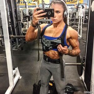 awesome chick with muscle body and muscle biceps post from reddit